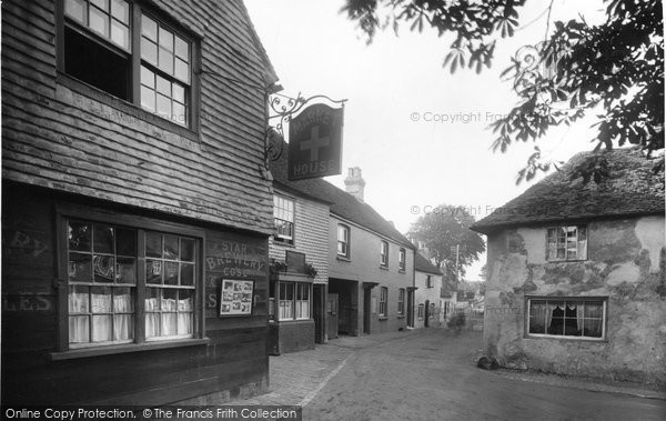 Alfriston, Market Cross 1921
