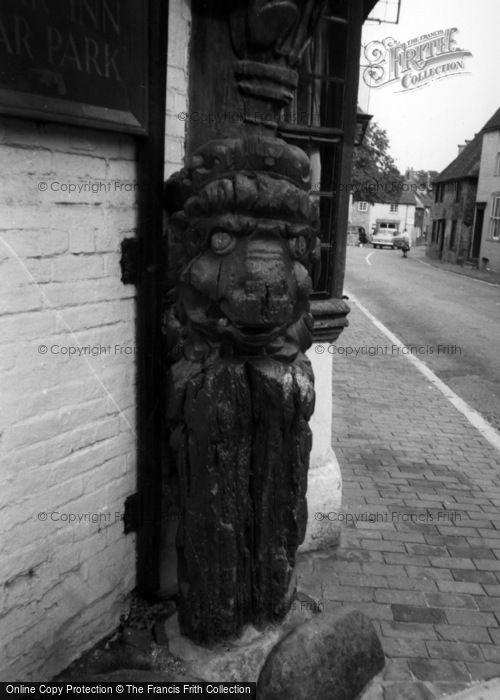 Photo of Alfriston, Old Figure Head c.1960
