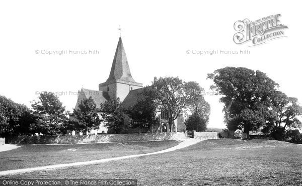 Photo of Alfriston, St Andrew's Church 1891