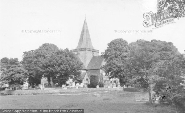 Photo of Alfriston, St Andrew's Church c.1955