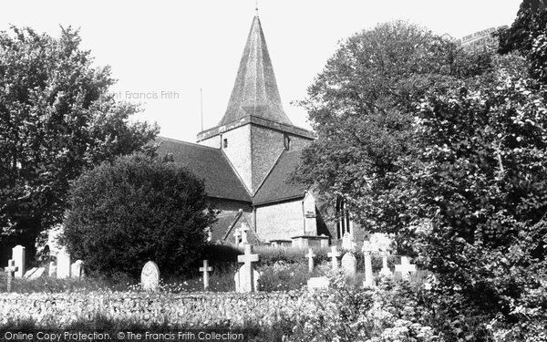 Photo of Alfriston, St Andrew's Church c.1960