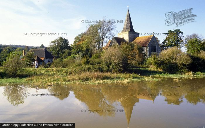 Photo of Alfriston, St Andrew's Church From The Cuckmere River 1997