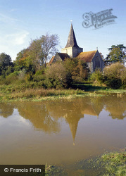 St Andrew's Church From The Cuckmere River 1997, Alfriston