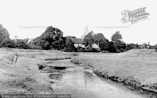Photo of Alfriston, St Andrew's Church From The River Cuckmere 1960