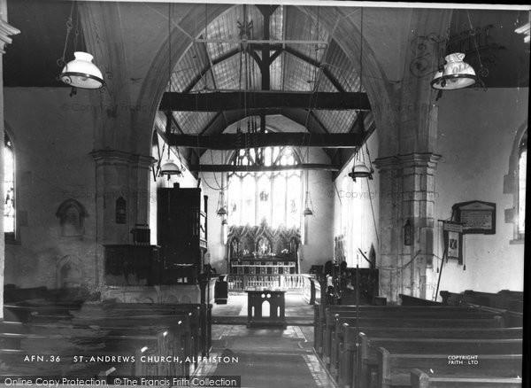 Photo of Alfriston, St Andrew's Church Interior c.1960
