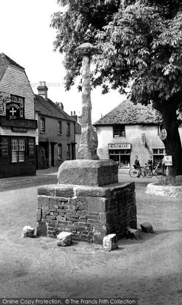 Photo of Alfriston, The Ancient Market Cross c.1960