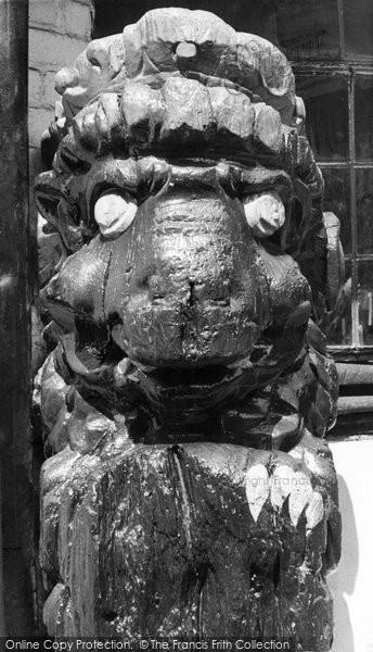 Alfriston, The Figurehead Outside The Star Inn c.1955