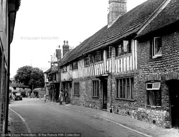 Photo of Alfriston, The George Inn c.1955