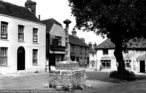Photo of Alfriston, The Market Square c.1955