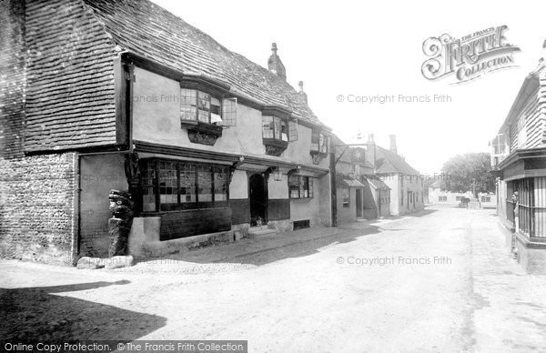 Photo of Alfriston, The Star Inn And High Street  1891