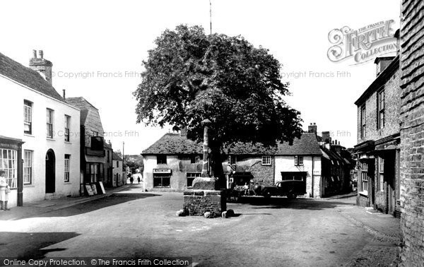 Photo of Alfriston, The Village Square c.1955