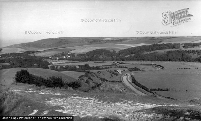 Photo of Alfriston, View From High And Over c.1960