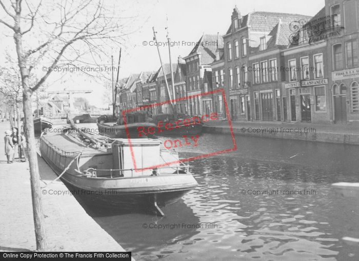 Photo of Alkmaar, Barge On A Canal c.1938