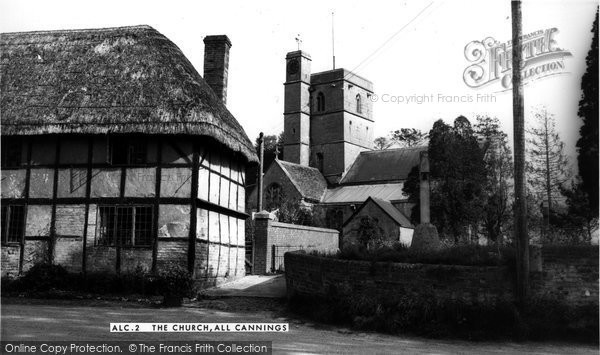 Photo of All Cannings, All Saints' Church c.1960