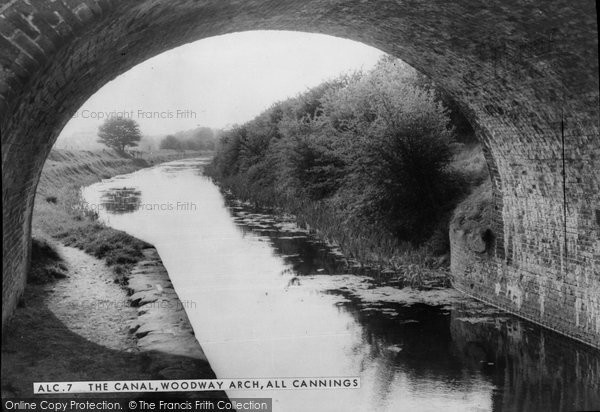 Photo of All Cannings, Woodway Arch, The Canal c.1960