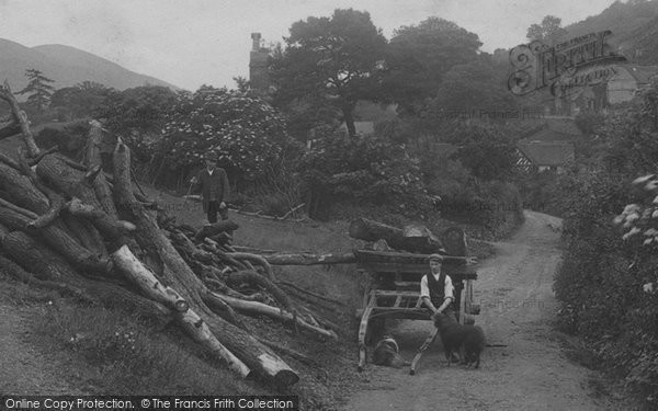All Stretton, Collecting Wood 1910