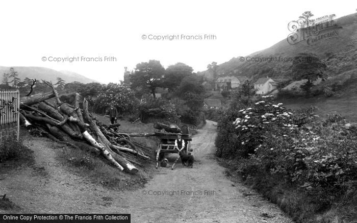 Photo of All Stretton, The Long Mynd Hills, Collecting Wood 1910