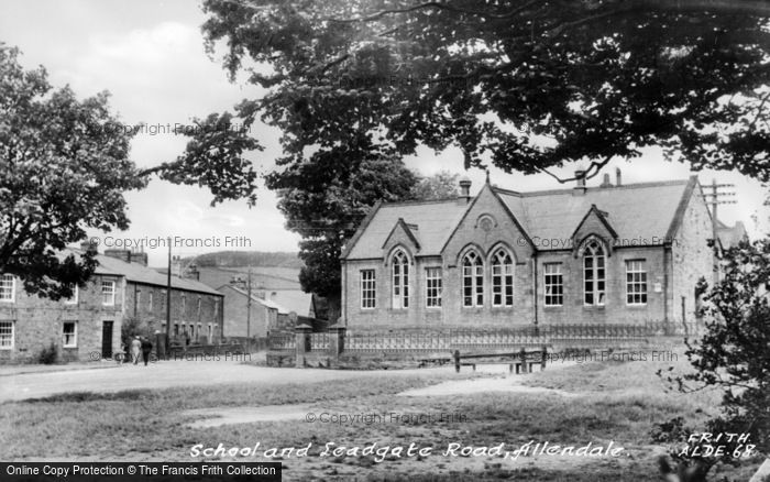 Photo of Allendale, Leadgate Road And School c.1955