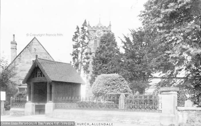 Photo of Allendale, St Cuthbert's Church c.1955