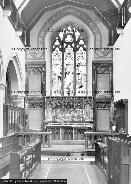 Photo of Allendale, St Cuthbert's Church, Chancel c.1955