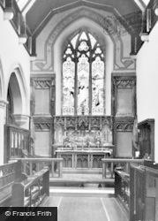 Allendale, St Cuthbert's Church, Chancel c.1955