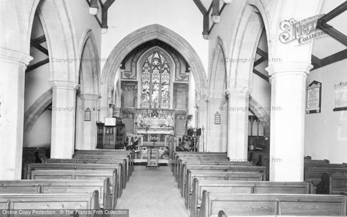 Photo of Allendale, St Cuthbert's Church, Interior c.1955
