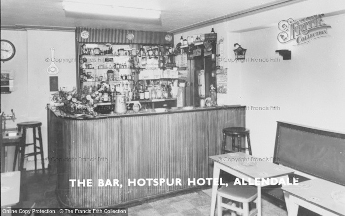 Photo of Allendale, The Bar, Hotspur Hotel c.1965