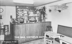 Allendale, The Bar, Hotspur Hotel c.1965