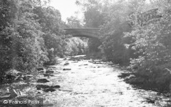 Allendale, The Bridge And River c.1960