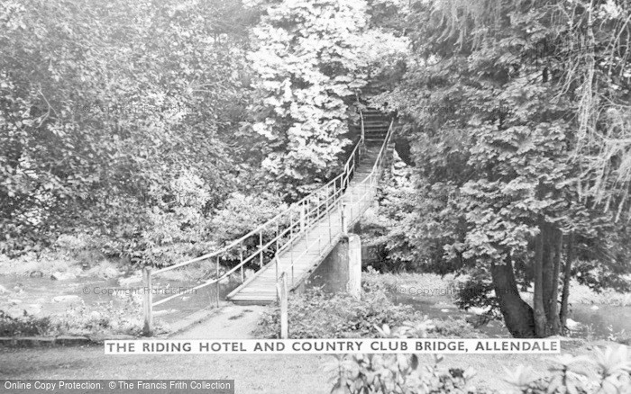 Photo of Allendale, The Riding Hotel And Country Club Bridge c.1955