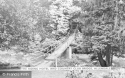 Allendale, The Riding Hotel And Country Club Bridge c.1955