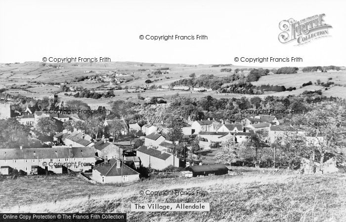 Photo of Allendale, The Village c.1950
