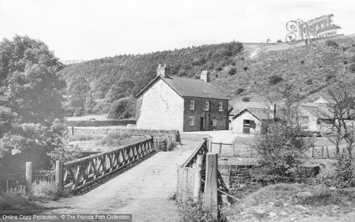 Photo of Allendale, Wide Eals Farm From The Bridge c.1955