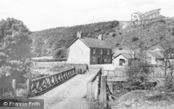 Allendale, Wide Eals Farm From The Bridge c.1955