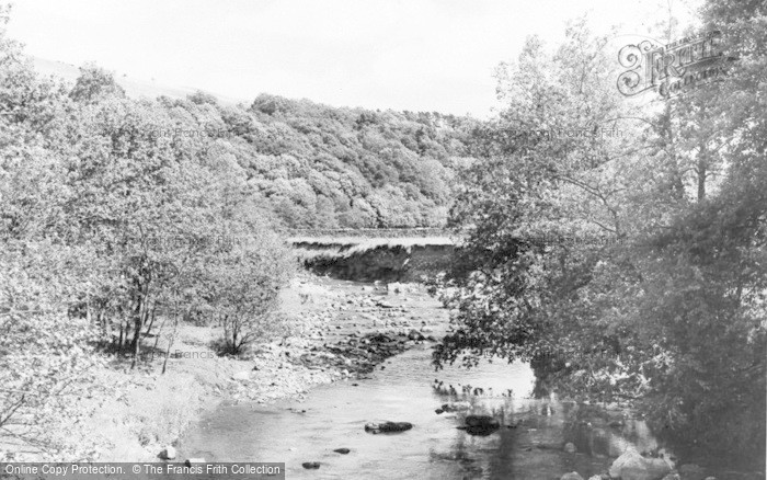 Photo of Allendale, Wide Eals, The River From The Bridge c.1955