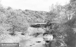 Allendale, Wide Eals, The River From The Bridge c.1955