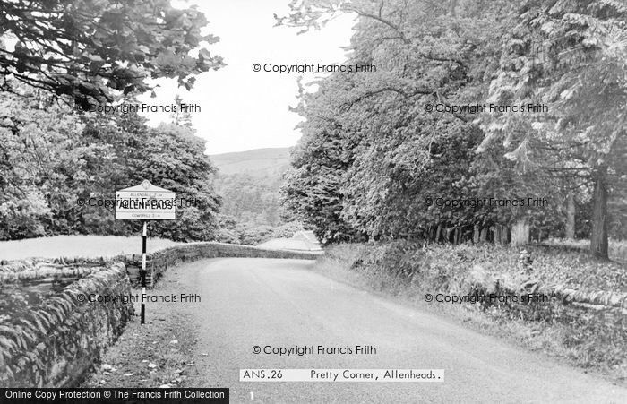 Photo of Allenheads, Pretty Corner c.1965