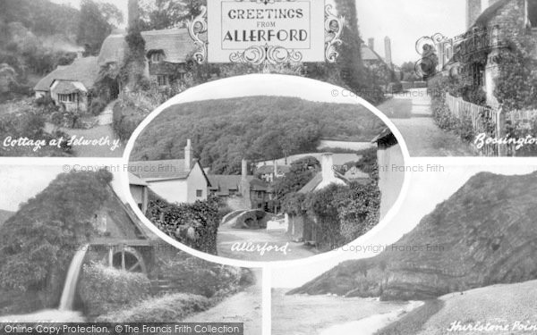 Photo of Allerford, Composite c.1955
