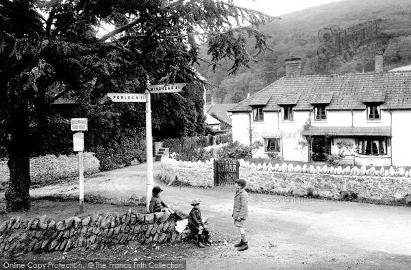 Photo of Allerford, Corner 1923