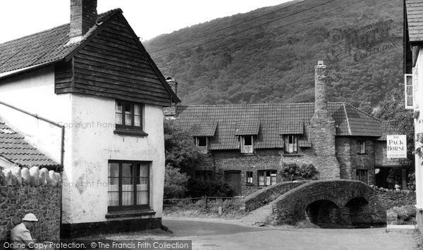 Photo of Allerford, Packhorse Bridge c.1955