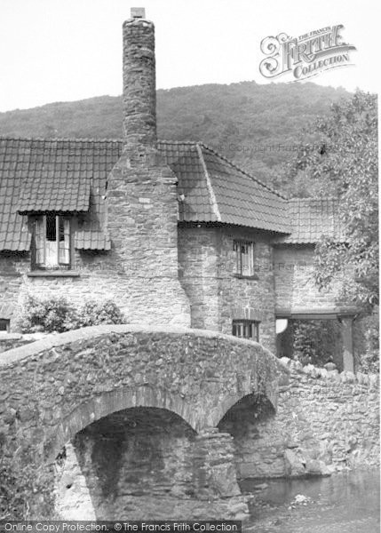 Photo of Allerford, The Packhorse Bridge c.1955