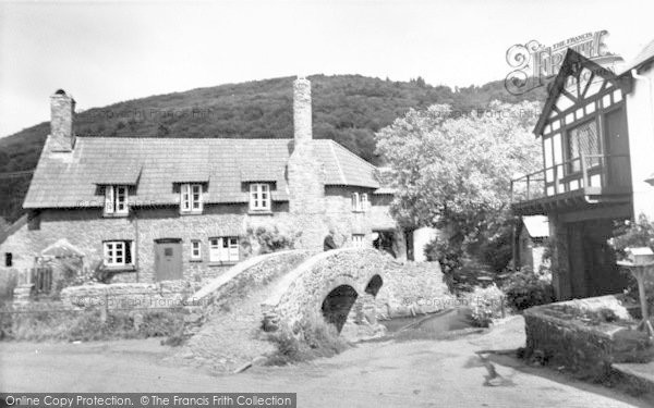 Photo of Allerford, The Packhorse Bridge c.1955