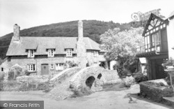 Allerford, The Packhorse Bridge c.1955
