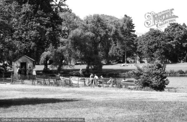 Photo of Allestree, The Lake, Markeaton Park c.1960