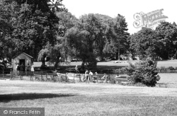 Allestree, The Lake, Markeaton Park c.1960