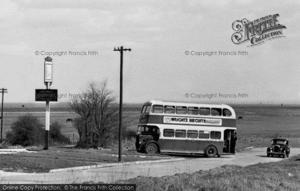Photo of Allhallows, Double Decker Bus c.1955