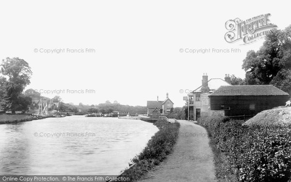 Photo of Allington, Allington Lock 1898