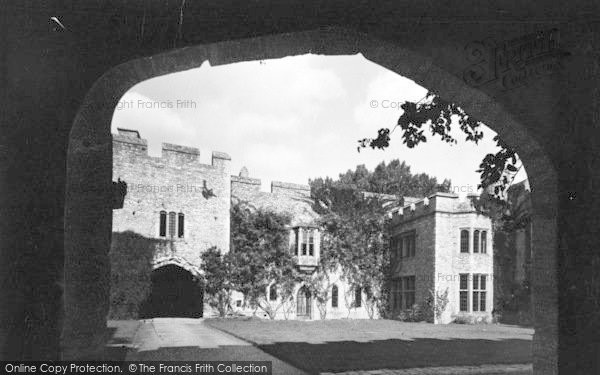 Photo of Allington, Castle, The Courtyard c.1955