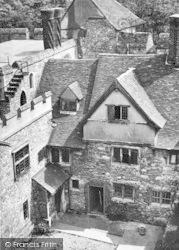 Allington, Castle, The Inner Court And Tudor House c.1955