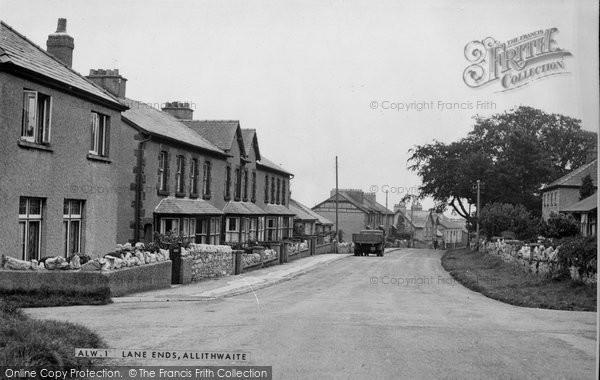 Photo of Allithwaite, Lane End c.1955